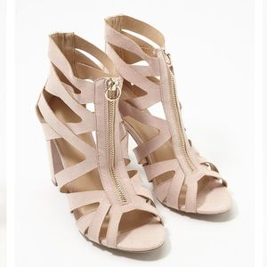 Charlotte Russe Caged Block Heel Sandals